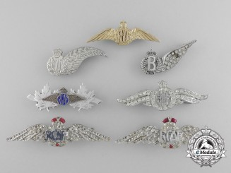 Seven Royal Canadian Air Force (RCAF) Sweetheart Badges