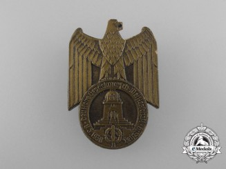 Germany, NSDAP. A 1938 Leipzig Field-Dress Marching Rally Badge by E.O Friedrich