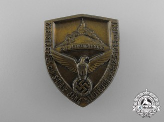 A 1935 NSDAP Jena-Stadtroda District Meeting Badge