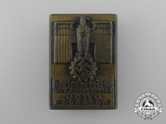 Germany, NSDAP. A 1934 DAF Jena District Party Day Badge