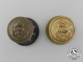 Two Imperial German Navy (Kaiserliche Marine) Shoulder Board Buttons