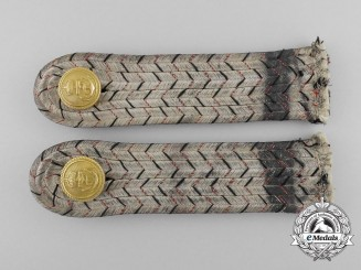 An Imperial German Navy (Kaiserliche Marine) Leutnant zur See Shoulder Board Pair