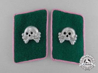 "A Scarce Set of ""Fallschirm-Panzer Korps Hermann Goering"" Panzerjagers Collar Tabs"