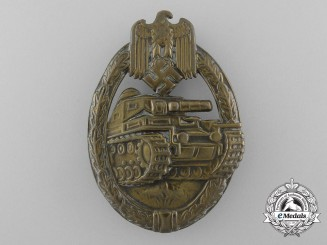 An Early Bronze Grade Tank Badge in Tombac