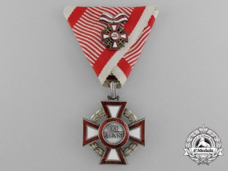 An Austrian Military Merit Cross with Second Class Military Merit Cross Decoration