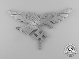 A Unique Field Made Luftwaffe Flag Topper Eagle