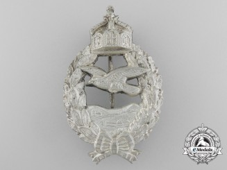 A Fine First War Prussian Pilot's Commemorative Badge by C.E. Juncker of Berlin