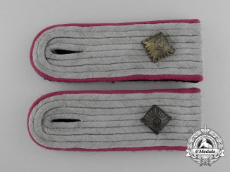 A Pair of Legal Service Waffen-SS Obersturmführer's Shoulder Boards