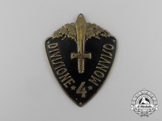 An Italian 4th Infantry Division of Monviso Sleeve Badge