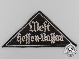 A HJ/DJ West Hessen-Nassau District Sleeve Patch; HJ RZM Tagged