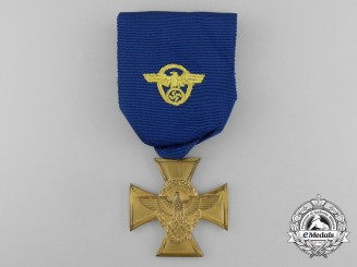 A Police 25 Year Long Service Cross; First Class