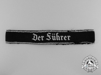 "A Tunic Removed Waffen-SS ""Der Führer"" Officer's Cufftitle"