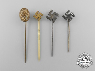 Four Second War Period NSDAP Supporter Pins