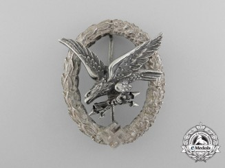 A Luftwaffe Radio Operator & Air Gunner Badge by C.E Juncker