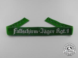 "Germany, Luftwaffe. A ""Fallschirm-Jäger Rgt.1"" Cufftitle"