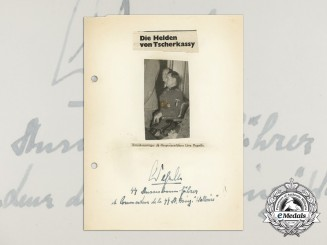 A Wartime Daybook Page Signed by SS-Sturmbannführer Leon Degrelle