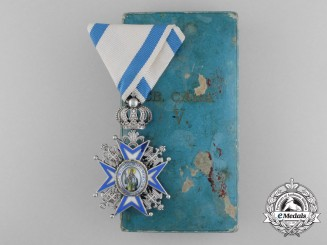 A Serbian/Royal Yugoslav Order of St. Sava 1921-1941, 5th Class, Cased