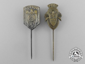 A Grouping of Two Winter Relief of the German People Charitable Marksmanship Event Stick Pins