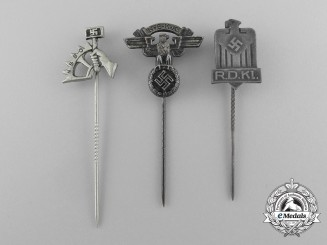 A Lot of Three Third Reich Period Membership Stick Pins