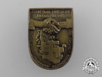Germany, Third Reich. A 1933 Border-Lands Schleswig-Holstein Rally Badge