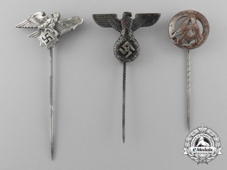 A Lot of Three Third Reich Period Stick Pins