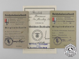 Two Reich Colonial League to Eduard Reinholtz & Christian Porschen