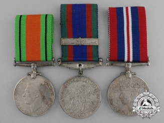 A Group of Three Canadian Second War Medals