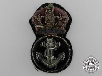 A Royal Navy Petty Officer's Cap Badge
