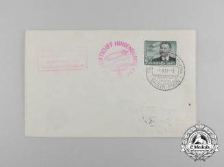 An Air Mail Envelope from Airship Hindenburg's Final Voyage