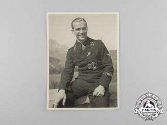 A Photograph of Waffen-SS Standartenführer Max Wünsche