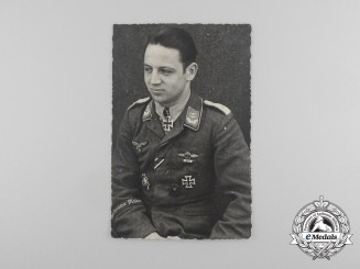 A Postcard of Luftwaffe Flying Ace Karl-Heinz Weber