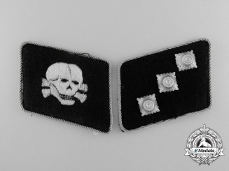 A Fine Set of Untersturmführer Collar Tabs, of the 3d Waffen-SS Panzer Division
