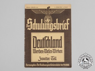 "A Monthly NSDAP ""Der Schulungsbrief"" Indoctrination Magazine; February 1938 Issue"