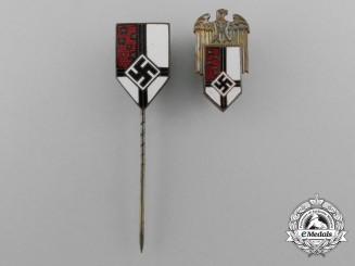 A Lot of Two German Reichs Colonial League Badges and Stickpins