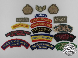 Canada. A Lot of Seventeen Second War Uniform Insignia and Patches