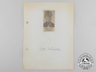 Germany, SS. A Wartime Daybook Page Signed by SS-Obersturmbannführer Otto Kumm
