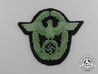 A Schutzpolizei National Panzer Sleeve Eagle