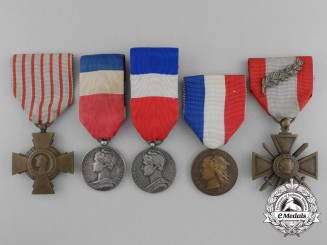 A Lot of Five French Medals