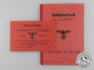 A German Reich Mail Bank Book of Gerhard Anderle
