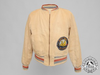 A Second War HMCS Trail Royal Canadian Naval Volunteer Reserve Bomber Jacket