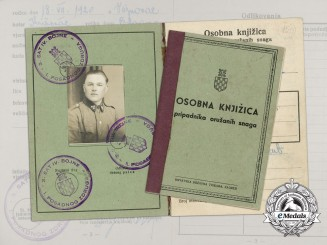 A WW2 Croatian Army Book, NCO Valent Ožegović
