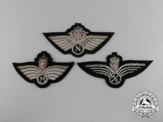 Three Royal Norwegian Air Force Badges