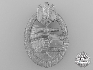A Mint Silver Grade Tank Badge by H. Aurich