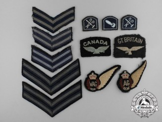 Twelve Royal Canadian Air Force (RCAF) Insignias