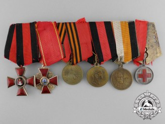 Russia, Imperial. An Order of Saint Vladimir & Saint Anne Medal Bar
