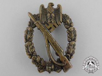 A Early Bronze Grade Infantry Assault Badge; Hollow Version by C. E. Juncker