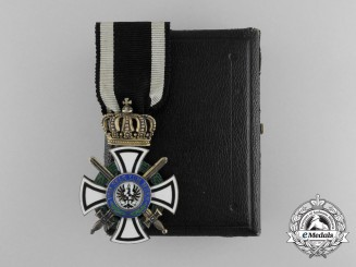 A Prussian House Order of Hohenzollern; Knight's Cross with Swords, by Wagner