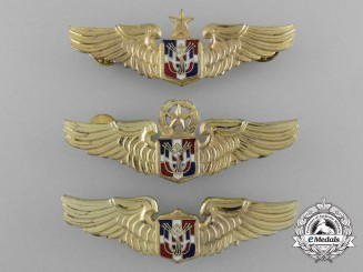 A Lot of Three Air Force of the Dominican Republic Pilot Badges