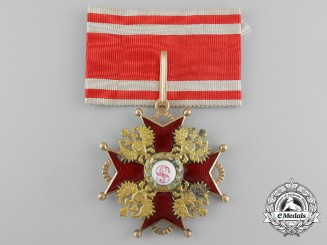 A Russian Imperial Order of St.Stanislas; Second Class in Gold by Albert Keibel
