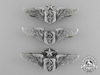 Three American Flight Surgeon Badges